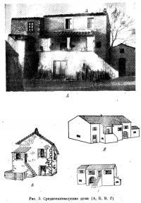 Рис. 3. Средиземноморские дома (А, Б, В, Г)