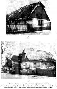 Рис. 3. Типы западнославянского народного жилища