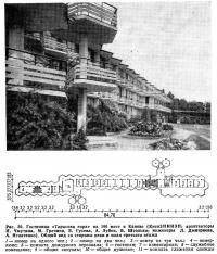 Рис. 30. Гостиница «Тарасова гора» на 106 мест в Каневе