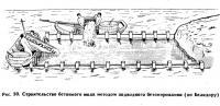 Рис. 30. Строительство бетонного мола методом подводного бетонирования