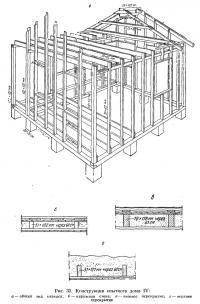 Рис. 32. Конструкция опытного дома IV
