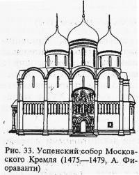 Рис. 33. Успенский собор Московского Кремля