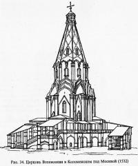 Рис. 34. Церковь Вознесения в Коломенском под Москвой
