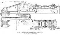 Рис. 34. Горизонтальный древошерстный станок СД-3