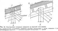 Рис. 34. Конструкции опирания покрытия на верхний пояс фермы