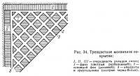 Рис. 34. Трехцветное мозаичное покрытие