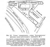 Рис. 35. Схема генерального плана Хорошевского филиала домостроительного комбината №1
