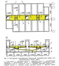 Рис. 4. Конструкция индустриально» безрулонной железобетонной крыши для крупнопанельных домов