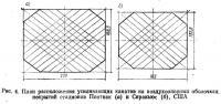 Рис. 4. План расположения усиливающих канатов на воздухоопорных оболочках