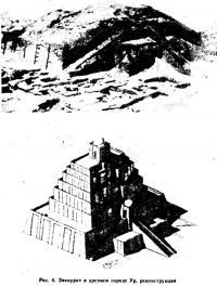 Рис. 4. Зиккурат а древнем городе Ур, реконструкция