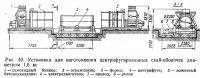 Рис. 40. Установка для изготовления центрифугированных свай-оболочек диаметром 1,6 м