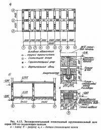 Рис. 4.12. Экспериментальный пятиэтажный крупнопанельный дом со скользящим поясом