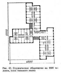 Рис. 42. Студенческое общежитие на 1800 человек