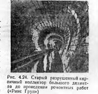 Рис. 4.24. Старый разрушенный кирпичный коллектор большого диаметра
