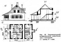 Рис. 45. Одноквартирный пятикомнатный кирпичный дом с мансардой