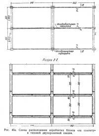 Рис. 46а. Схема расположения коробчатых блоков «на комнату»