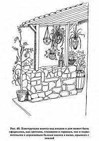 Рис. 48. Конструкция навеса над входом в дом