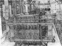 Рис. 49. Кассетно-формовочная машина для изготовления панелей перегородок