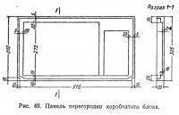 Рис. 49. Панель перегородки коробчатого блока