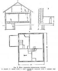 Рис. 5. Дом с кирпично-деревянными стенами