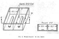 Рис. 5. Форма-поддон на два сырца