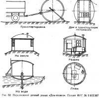 Рис. 52. Передвижной дачный домик «Дом-колесо»