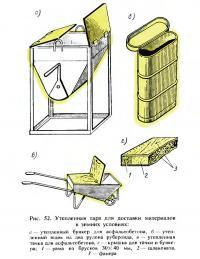 Рис. 52. Утепленная тара для доставки материалов в зимних условиях