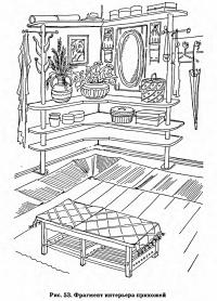Рис. 53. Фрагмент интерьера прихожей
