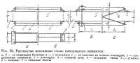 Рис. 56. Растянутые монтажные стыки клеедощатых элементов