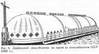 Рис. 6. Деревянный свод-оболочка на одном из химкомбинатов СССР (1932 г.)