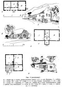 Рис. 6. Дома трехраздельной планировки (окончание)