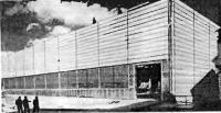 Рис. 62. Производственное здание со стеновыми панелями из ячеистого бетона (Швеция)