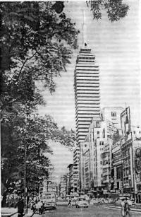 Рис. 64. 43-этажное здание в Мексике с наружными стенами, перекрытиями и перегородками