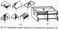 Рис. 73. Чердачные скатные крыши и совмещенные перекрытия