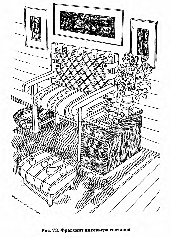 Рис. 73. Фрагмент интерьера гостиной
