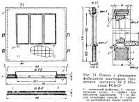 Рис. 73. Панель с утеплением фибролитом конструкции Проектного института №2