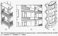 Рис. 76. Конструкции специальных элементов жилых зданий