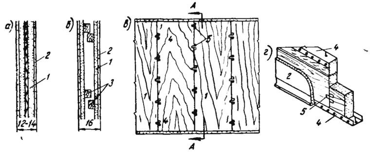 Рис. 76. Применение фибролита для устройства перегородок