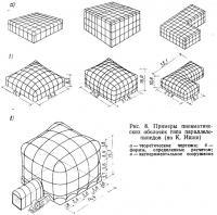 Рис. 8. Примеры пневматических оболочек типа параллелепипедов