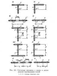 Рис. 8.3. Составные элементы с одним и двумя рядами вертикальных связей