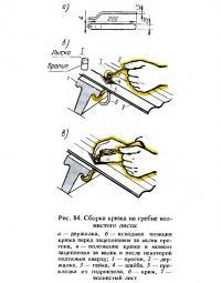Рис. 84. Сборка крюка на гребне волнистого листа