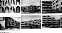 Рис. 86. Примеры ограждений летних помещений и общих галерей в гостиницах комплекса «Албена»
