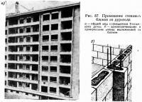 Рис. 87. Применение стеновых блоков из дуризола