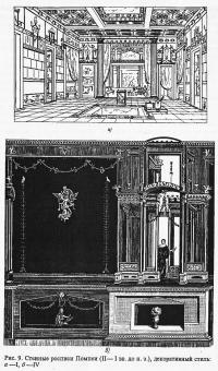Рис. 9. Стенные росписи Помпеи