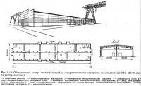 Рис. 9.19. Объединенный корпус тепломонтажной и электромонтажной мастерских со складами