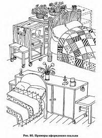 Рис. 95. Примеры оформления спальни