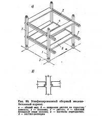 Рис. 99. Унифицированный сборный железобетонный каркас