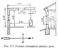 Рис. V.7. Угловое помещение жилого дома