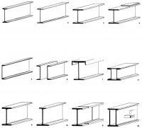 Рисунки 1-12. Основные профили балок