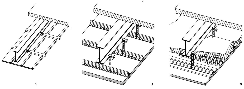 Рисунки 1-3. Потолки из сборных плит